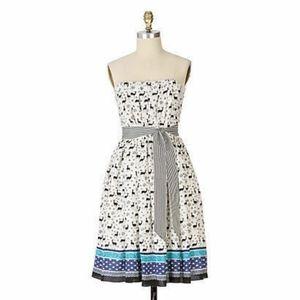 RARE Anna Sui silk deer dress for Anthropologie
